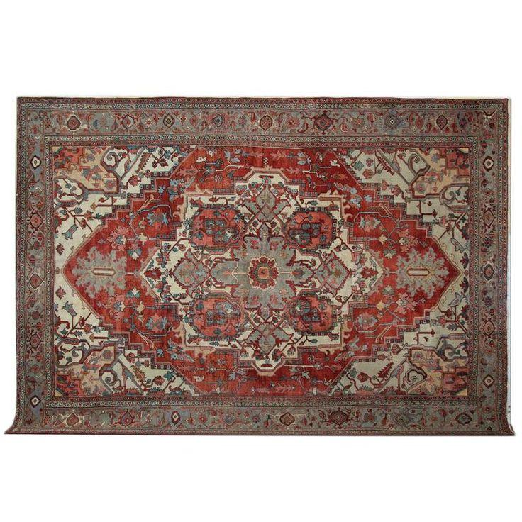 Antique Carpet, Persian Rugs, Heriz Rug  For Sale