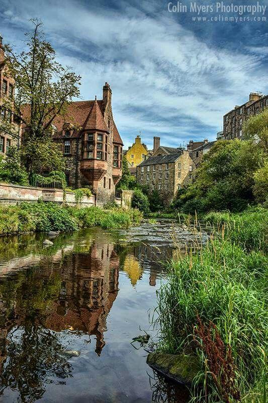 At the Dean Village in Edinburgh, Scotland.