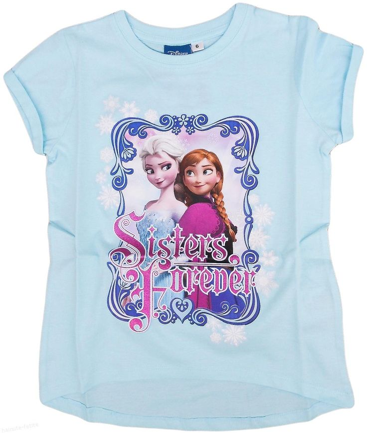 Pentru fetite dragute, doua surori la fel de dragute! Tricou cu surorile Frozen! Pret: 32.00 lei http://hainute-fetite.ro/produs/tricou-frozen-sisters/