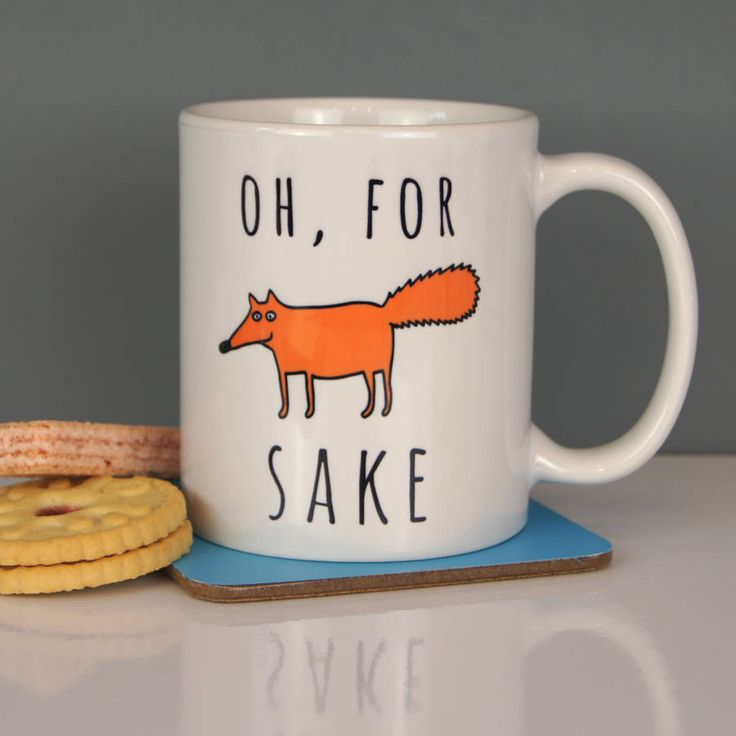 This great fun 'Oh, for Fox sake' ceramic mug makes the perfect gift or treat for yourself.Our fantastic statement mugs are great for the workplace or just at home, have a look at out other great designs. Each mug is sent out in a presentation box making a great gift. These are quality bright white ceramic dishwasher safe 11 oz mugs printed to our high standards.Ceramic bright white and dishwasher safe 11 oz W12cm x H9.5cm x D8cm