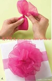 Easy puffy gift flower