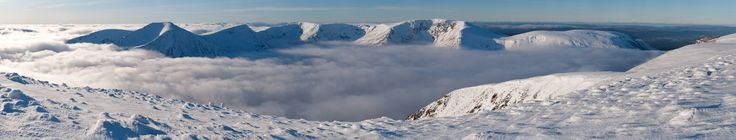 Temperature Inversion over the Lairig Ghru from Ben MacDui