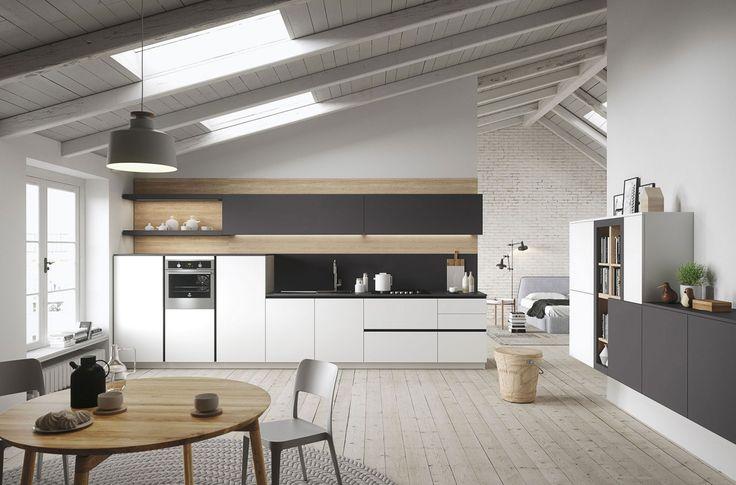 First è un progetto di cucine di design economiche che parla ad un pubblico giovane, non solo nell'età, ma soprattutto nel gusto. Guarda ad uno stile di vita informale, di qualità, in cui la casa è un luogo organizzato, ma anche aperto e fluido, in un mix equilibrato di creatività e flessibilità.