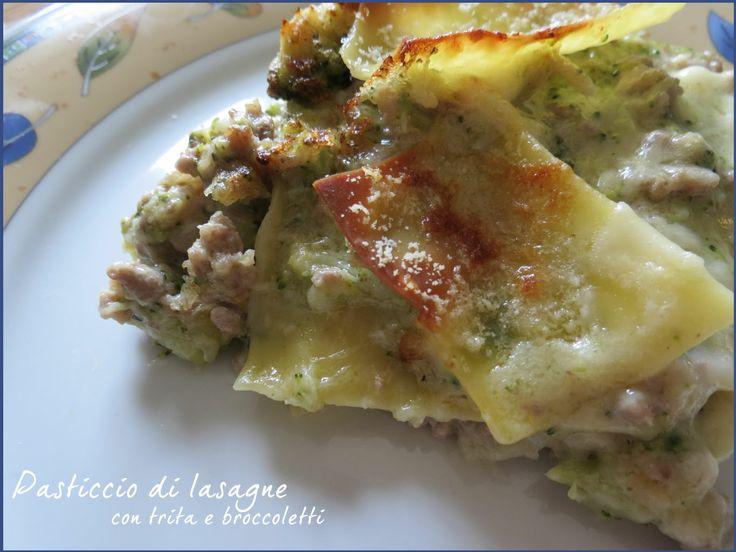 Pasticcio di lasagne con trita e broccoletti