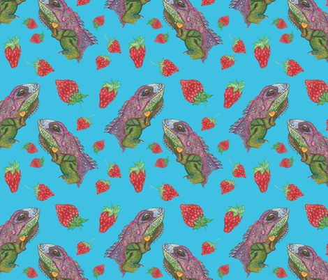 strawberry kiss fabric by rosy_lees on Spoonflower - custom fabric