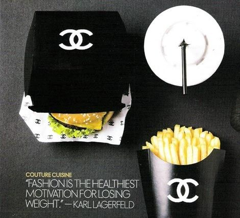 Instead of a 'Big Mac', I would like a 'Big Chanel'.