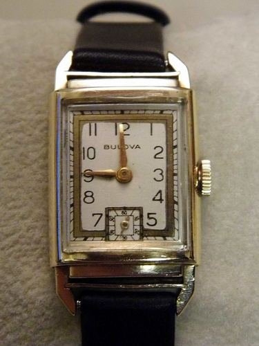Antique Bulova 1930s Men S Watch 5x Signed Rectangular Case Tank Watch 10k Gold Filled Signed Bulova 5th Ave New York Mechanical Wind 21 Jewel 7ap Movem Vintage Watches Watches For Men Tank
