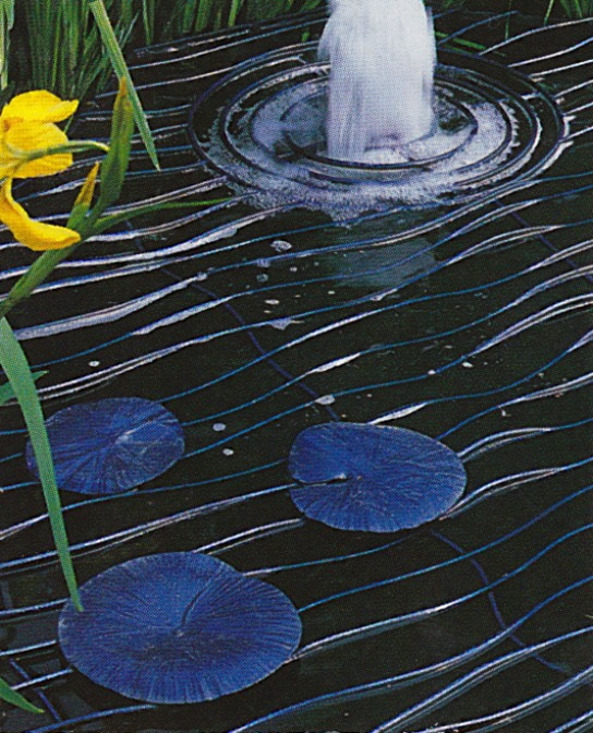 Wrought iron lily pad pond cover /scan magazine unknown