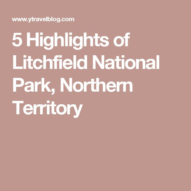 5 Highlights of Litchfield National Park, Northern Territory