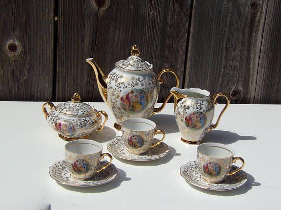 Antique Bohemian Mz Czechoslovakia Art Deco Porcelain Tea