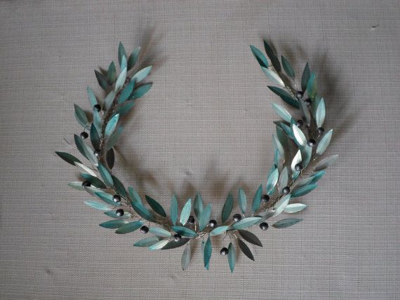 olive tree / olive wreath / olive branch / by MetalCraftStudio