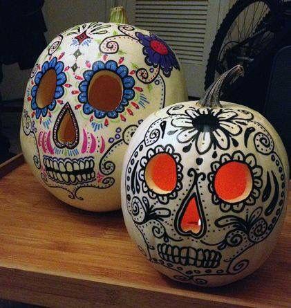 Skull candy pumpkins