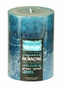 SIL LAYERED BLUE SCENTED CANDLE 10 X 7CM MORNING DEWDROPS
