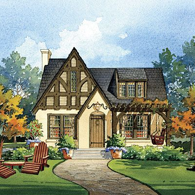 easy tudor garden | House Makeover Ideas: Tudor Revival-style Home
