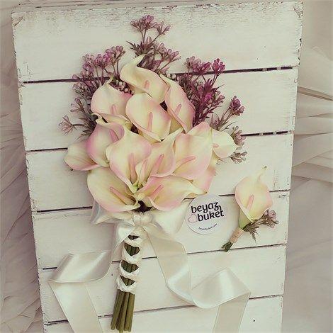 Canlı Doku Pembe Krem Gala Buketi  Buketimiz canlı dokulu yapay çiçeklerle tasarlanmıştır.