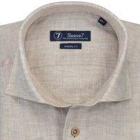 Sleeve7 Braun Chambray Leinen. Premium Qualität   #hemden #style #fashion #herrenmode #DressShirt #SlimFit #cotton
