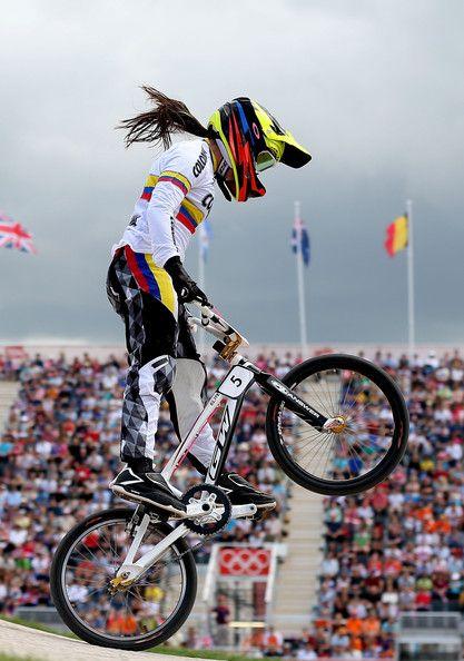 London 2012 Olympics women's BMX cycling gold medal winners, Mariana Pajon.
