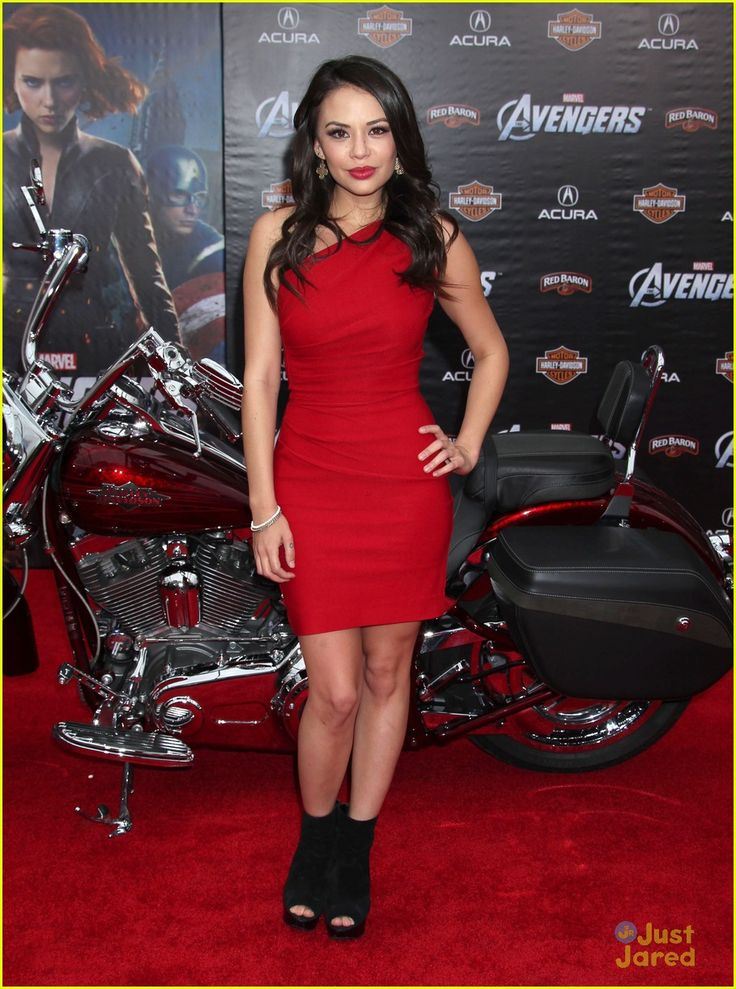 The Avengers premiere in LA 2012 - Janel Parrish in a Stop Staring! dress