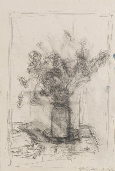 Alberto GiacomettiFleurs1952graphite on paper20 x 13 3/8 inches (50.8 x 34 cm)Private Collection