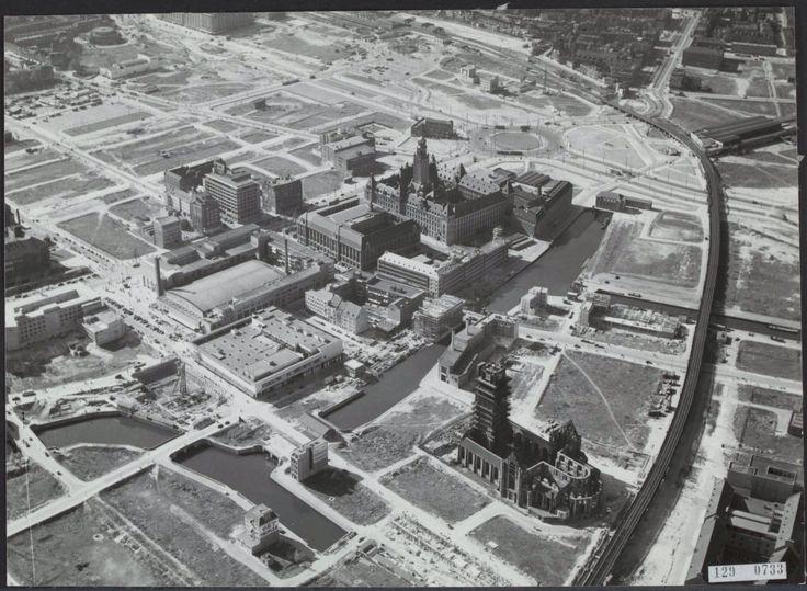 Centrum van Rotterdam (eind jaren '40).