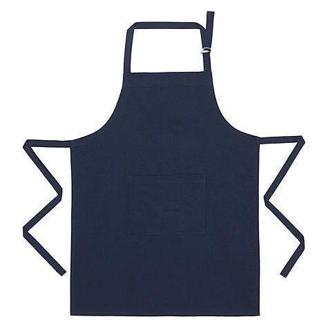 Buy House by John Lewis Navy Apron Online at johnlewis.com