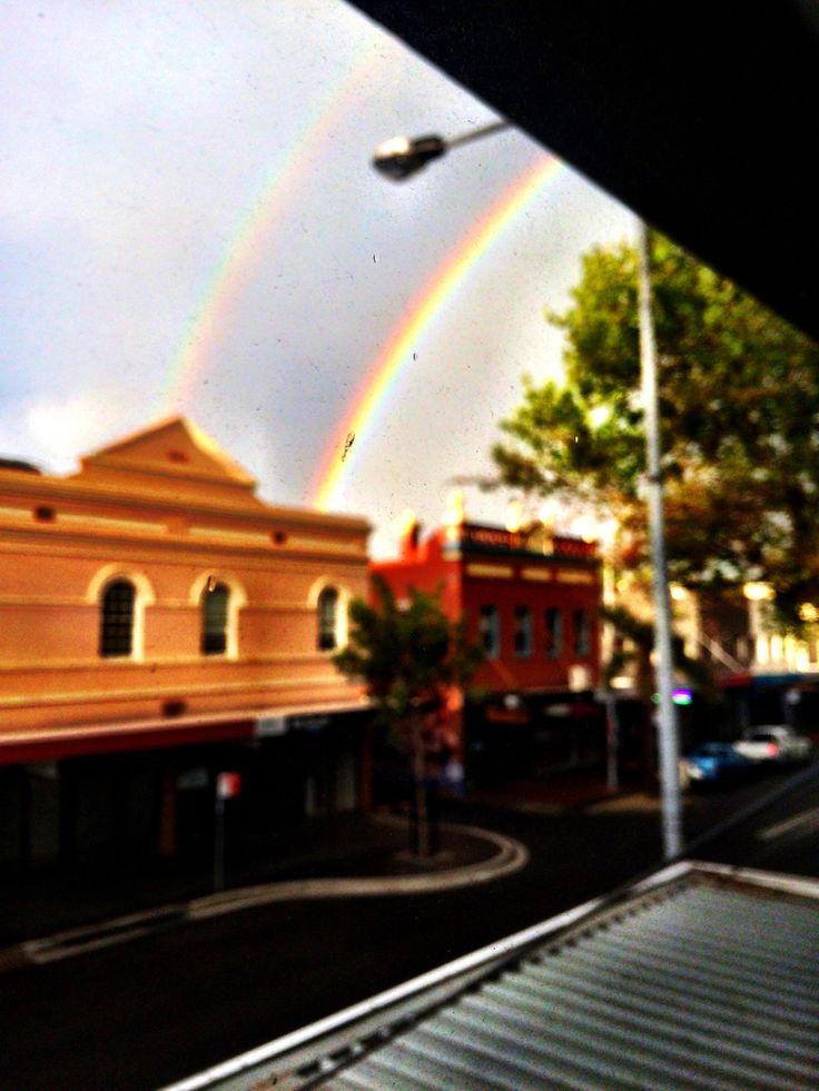 #rainbow #double #wollongong