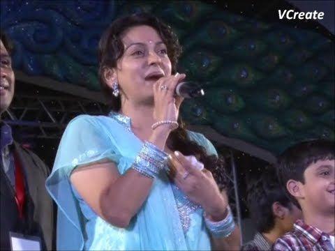 Juhi Chawla at Falguni Pathak's Navratri utsav 2012.