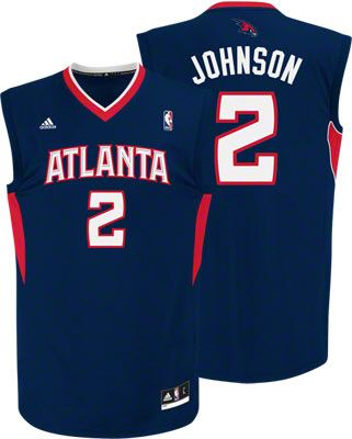 Atlanta Hawks Joe Johnson 2 Blue Authentic Jersey Sale