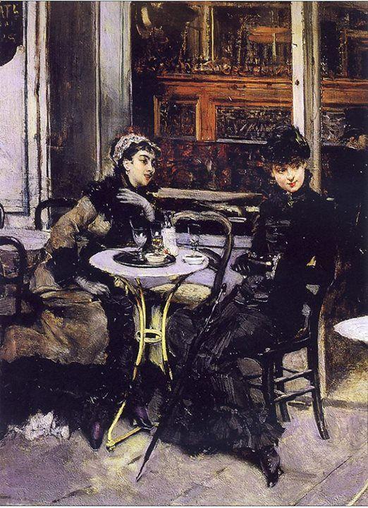 Giovanni Boldini - Conversazione al caffè, c. 1879