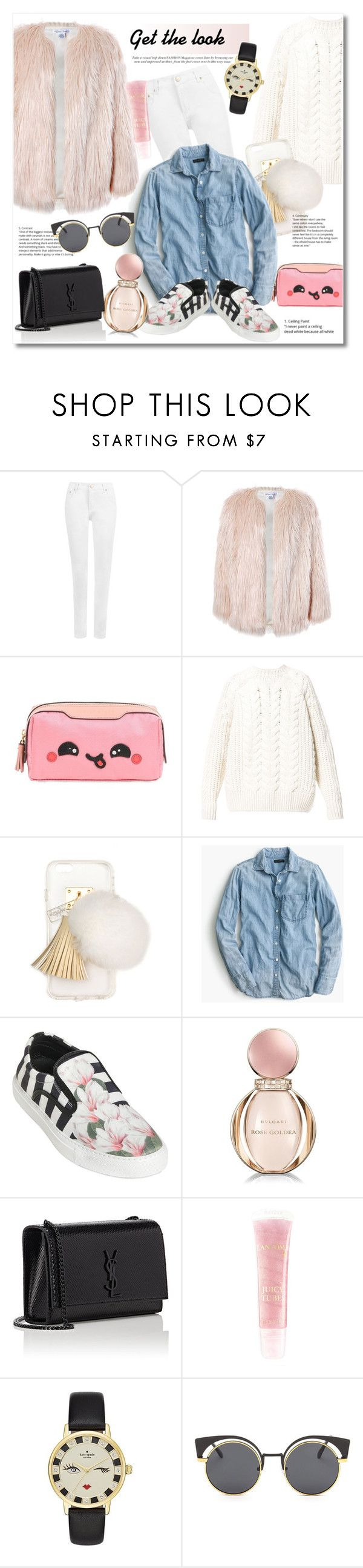 """""""Get the look"""" by vkmd ❤ liked on Polyvore featuring WearAll, Sans Souci, Anya Hindmarch, Diesel, Ashlyn'd, J.Crew, Mother of Pearl, Bulgari, Yves Saint Laurent and Kate Spade"""