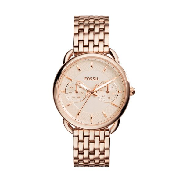 Fossil Premium | Fossil Tailor Watch Rosegold in rosa - Fashionette