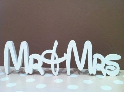 Disney Mr & Mrs Sign - Just Painted