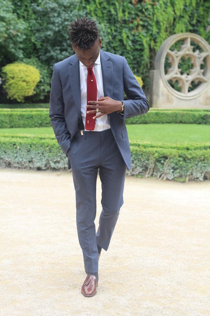 The Decorum Great Fit Navy Suit Red Tie Amp Tassel