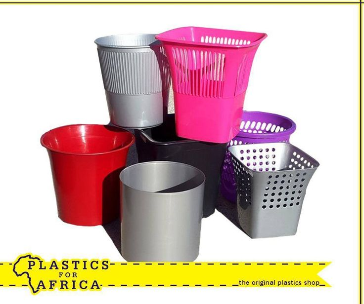 At #PlasticsforAfrica we stock a range of round and square litter bins, available in various colours. Visit your nearest branch today.