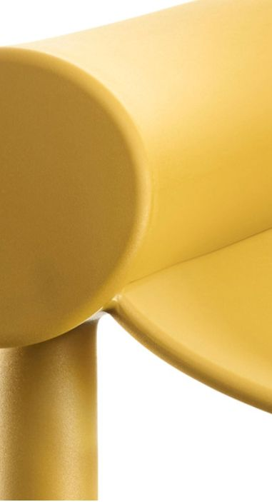 Sam Son is an easy armchair designed by Konstantin Grcic for Magis with a hint of a cartoon character.