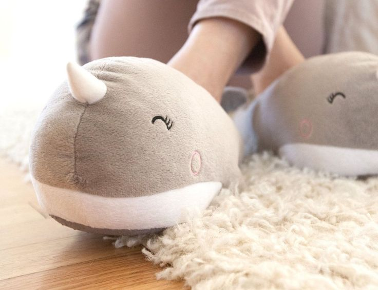 The design itself is enough to get one of these #NariNarwhal #USB Heated #Slippers for keeping your feet warm during those cold and chilly days.