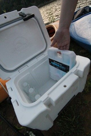 Yukon Marine 20 quart cooler. Photos copyright Brad Wiegmann Outdoors. http://www.bradwiegmann.com/tackle/accessories-and-electronics/1231-expectations-exceeded-with-new-20-quart-yukon-marine-cooler.html