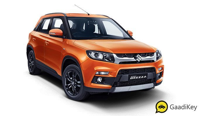 2020 Maruti Vitara Brezza Colors Orange Red Silver White