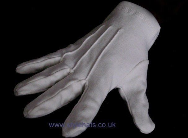 White Dress Gloves Parade Masonic Services for Men and Women Ceremonial Gloves