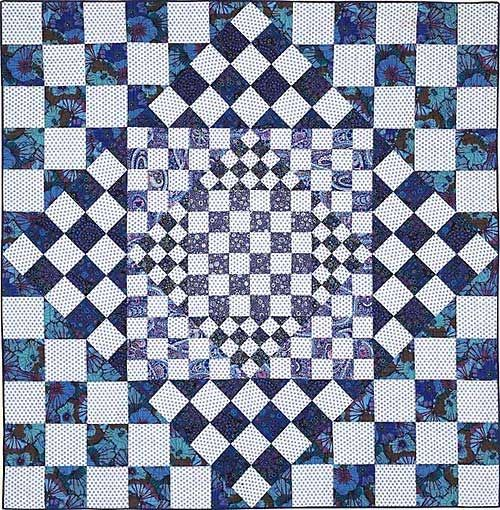 """""""Game Board"""" by Liza Prior Lucy, in Kaffe Fassett's 'Quilts en Provence' tennessequiltworks"""