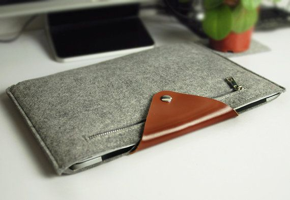 "13"" Macbook sleeve ,  Felt 13"" Macbook Air sleeve ,  13"" macbook pro case , Laptop sleeve for 13in Macbook case (605)"