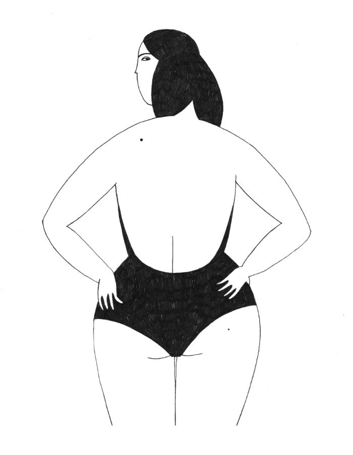 La Nageuse Art Print by Sabrina Arnault