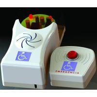 O alarme PNE é simples e fácil de ser usado, basta apertar o botão e uma sirene será acionada para sinalizar qualquer tipo de emergência e dificuldade que o portador de deficiência possa estar passando.