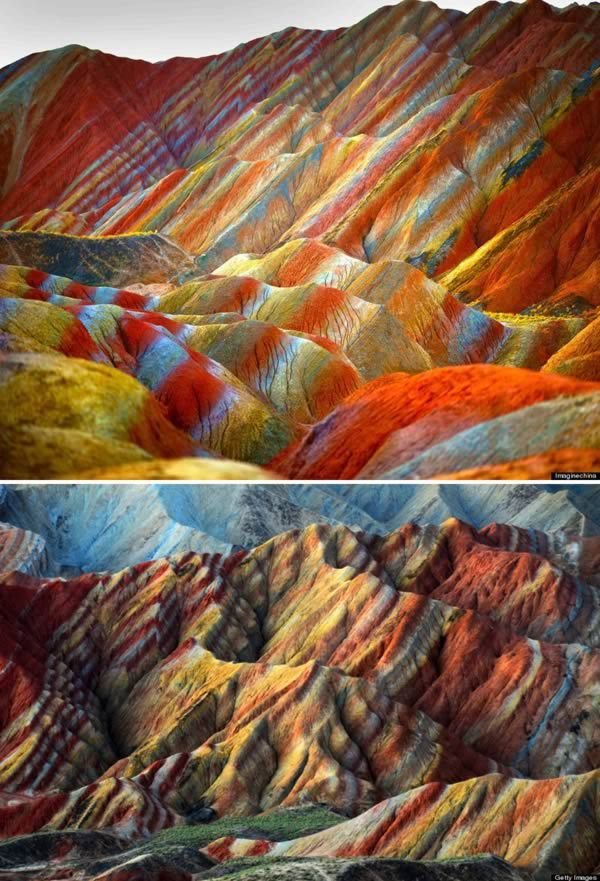 Le relief Danxia, Chine