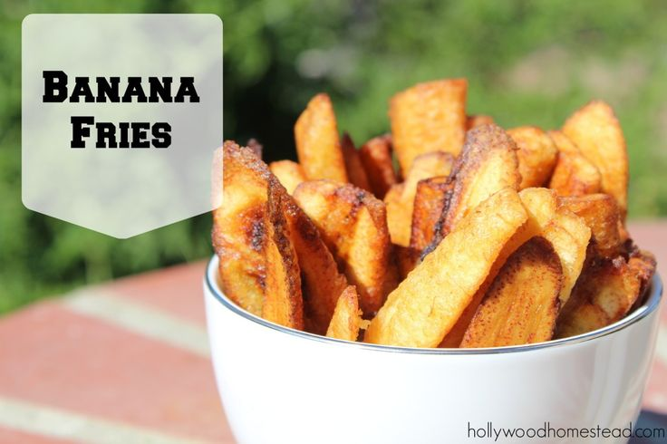 Paleo banana fries