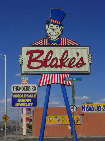 Blakes Lotaburger, Gallup, NM. Seeing this sign makes me so hungry for onion rings and a chocolate malt (yes, malt, not shake!)