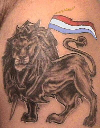 Dutch Lion Tattoo