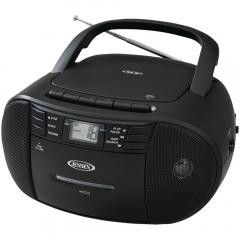 Boom Box:JENSEN CD-545 Portable Stereo CD Player with Cassette Recorder & AM/FM Radio