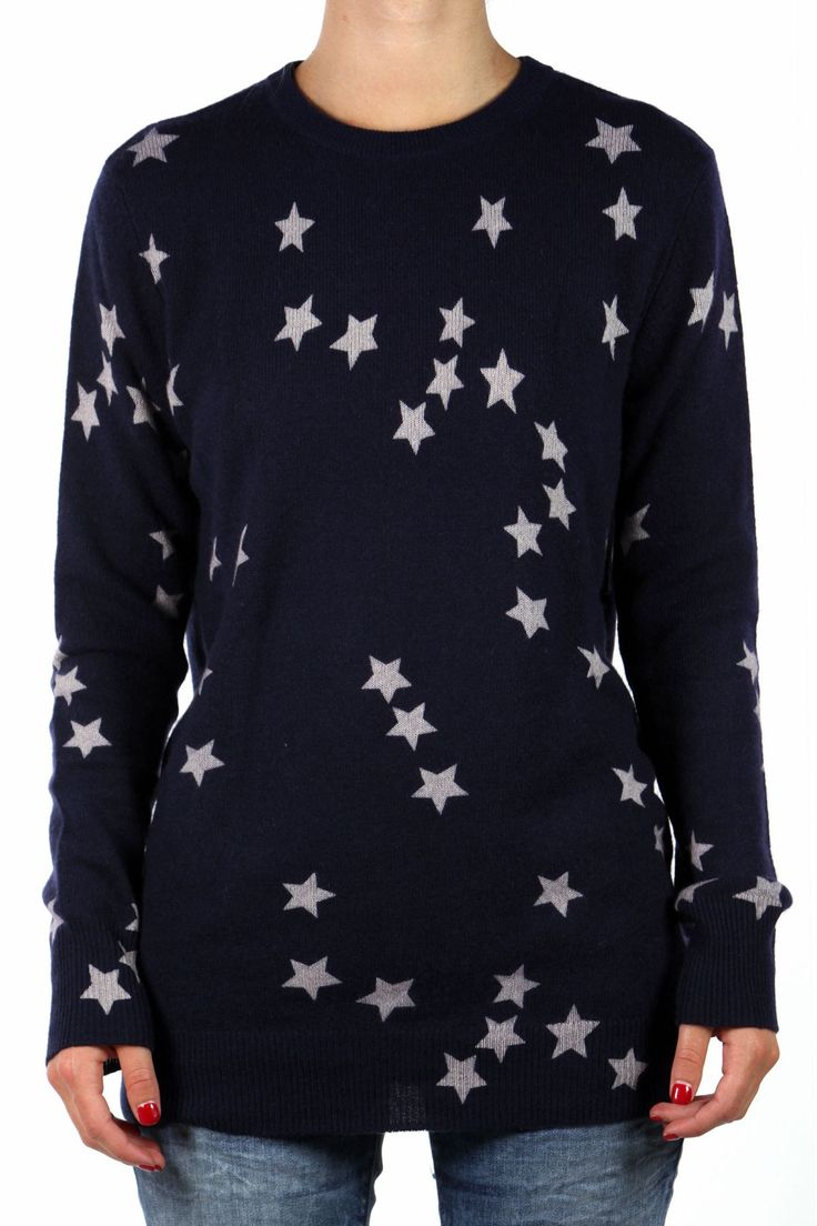 CASHMERE JUMPER WITH STAR PRINT