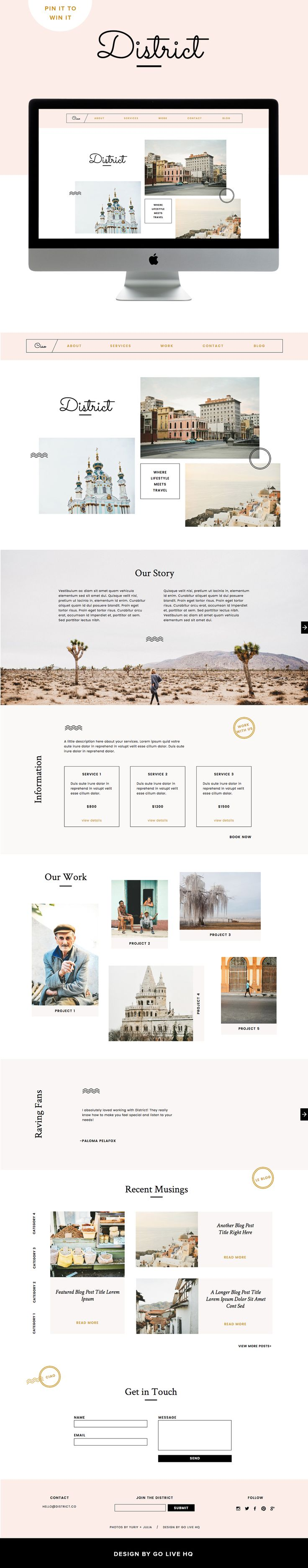 modern website theme
